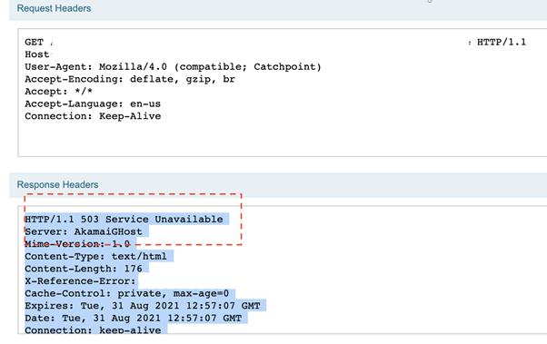 503 Error Code From Akamai Edge Server