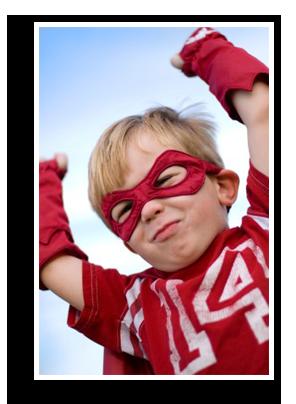 Toddle in superhero costume