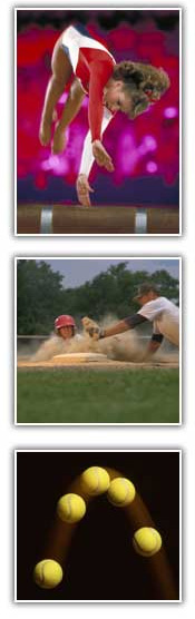 Pictures of different sports