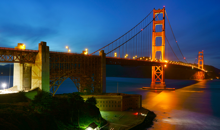 San Francisco Night Photography Golden Gate Bridge