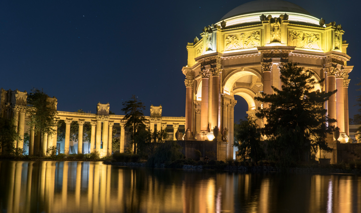 Night Photography at Palace of Fine Arts- A Photo Walk