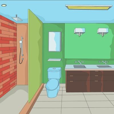 Streichen Badezimmer