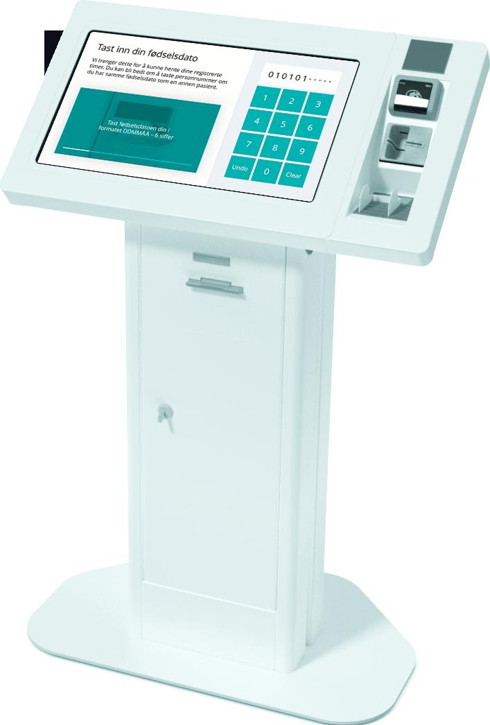 PatientSky ankomstregistrering på Convene-terminaler
