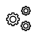 icône en noir pour devops