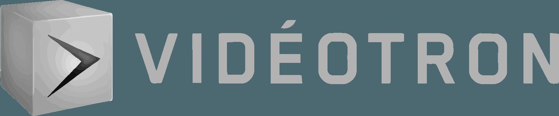 logo de videotron en gris