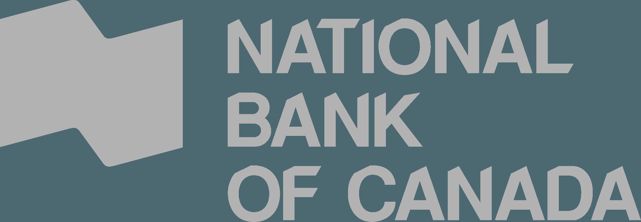logo de la banque nationale du canada en gris