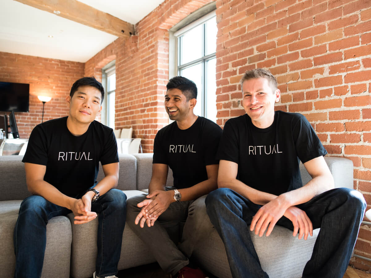 image of the three co-founders of ritual.co