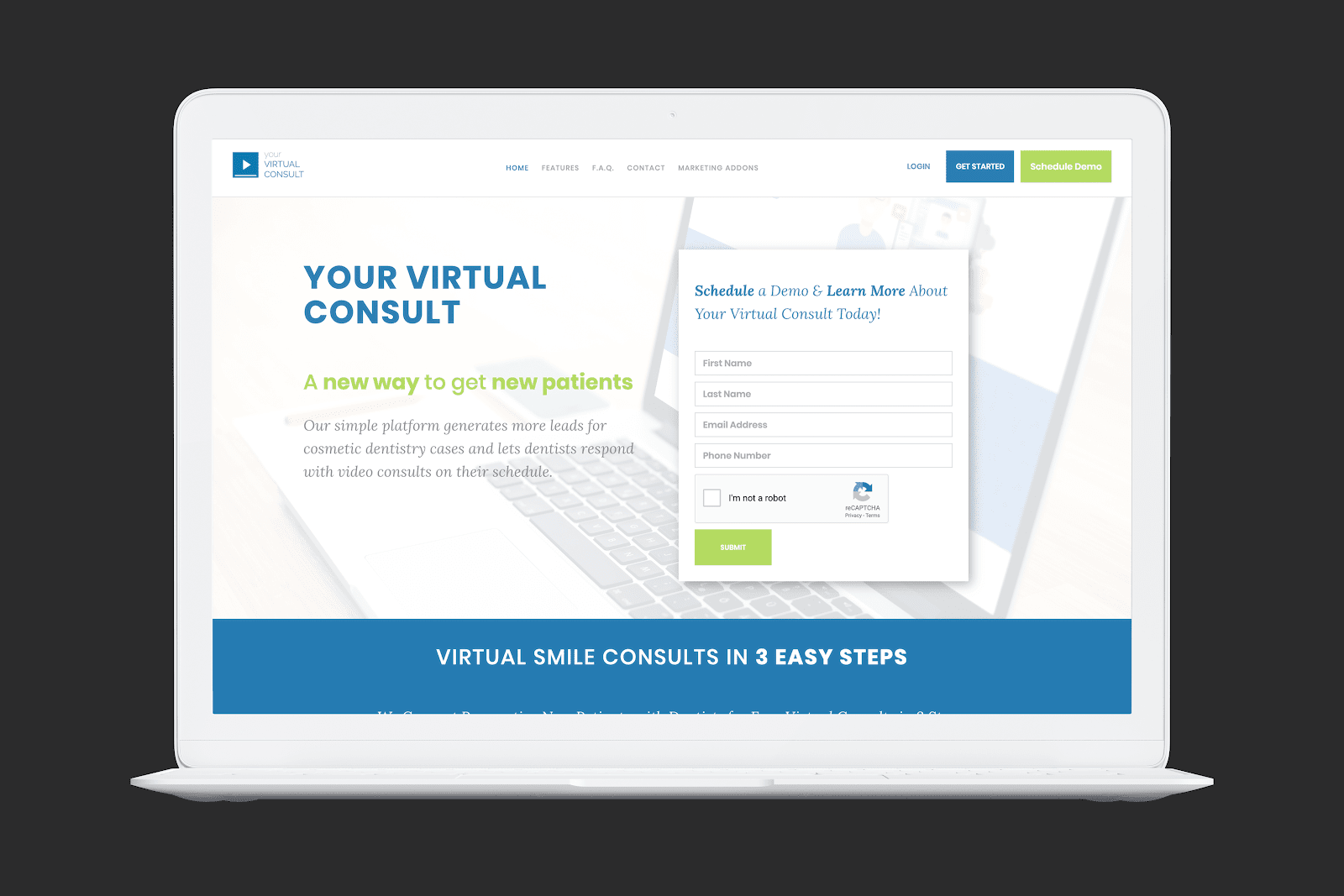 Your Virtual Consult Homepage Screengrab