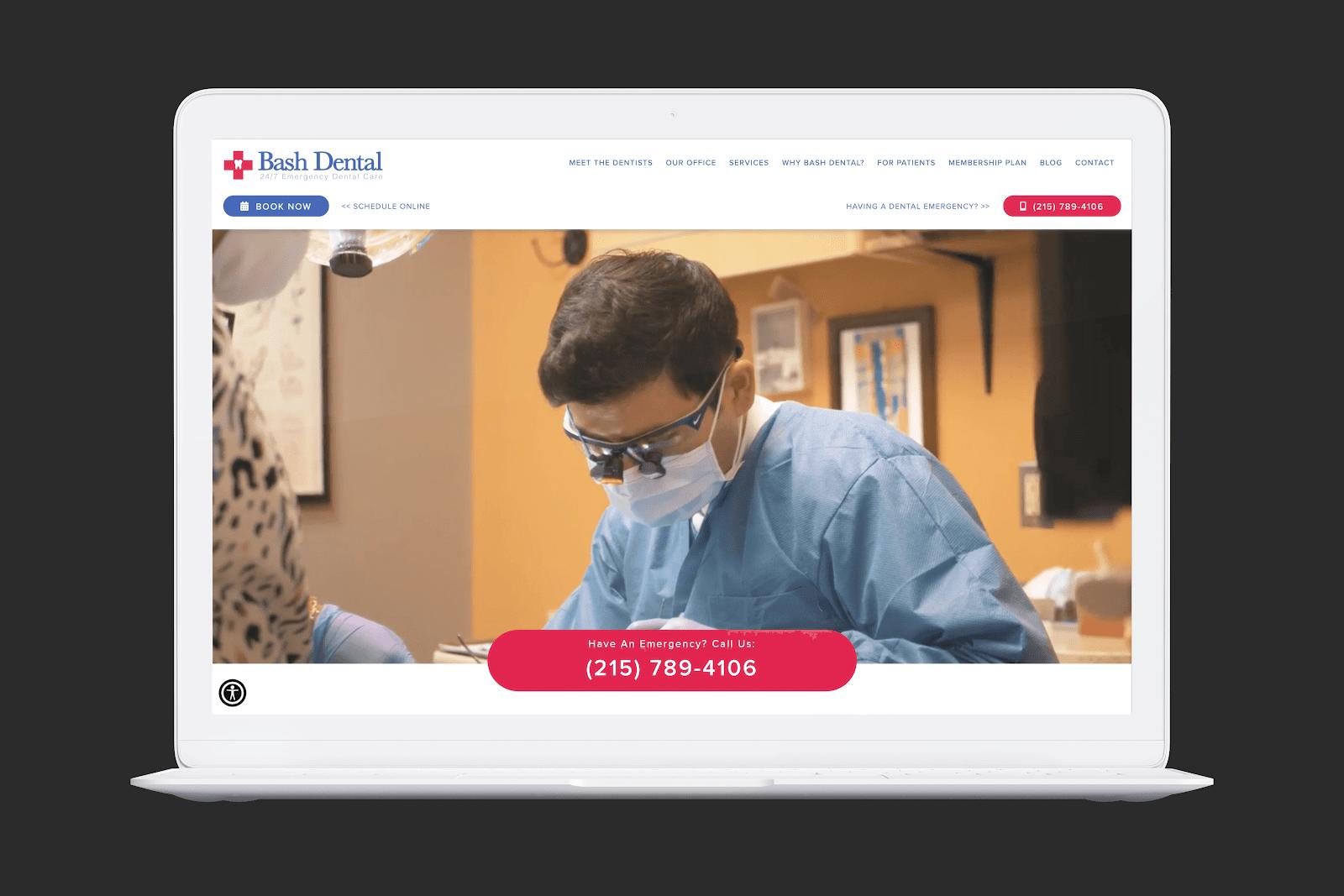 Bash Dental Homepage Screengrab