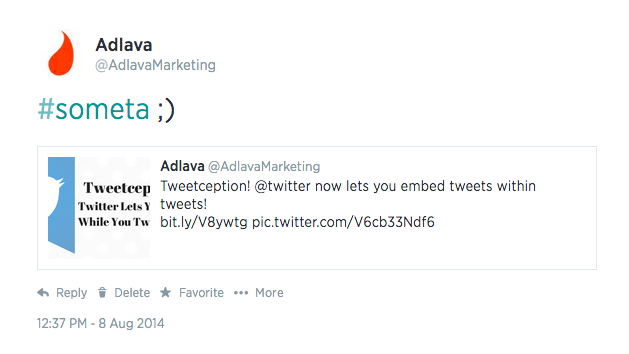 twitter post with embedded tweet