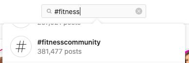 fitness community hashtag on instagram