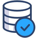 Icon showing a secure database