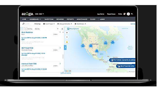 Azuga GPS Fleet Tracking