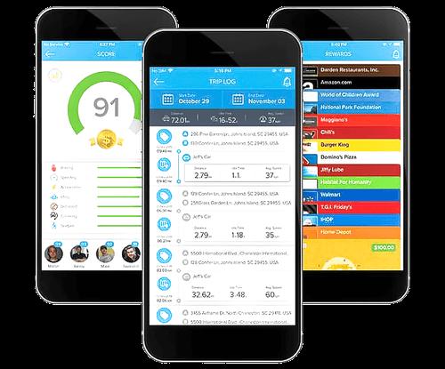 fleet mobile app with driver scores