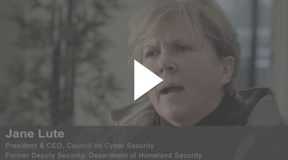 Video image of Jane Lute, President &CEO, Council on Cyber Security