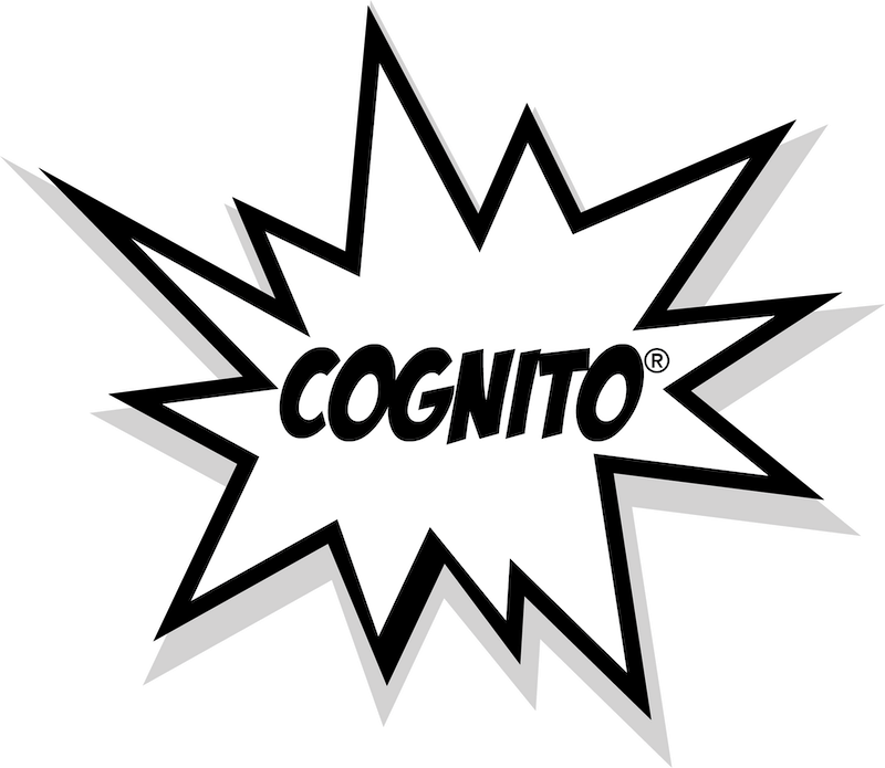 cartoon star saying Cognito