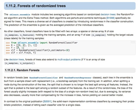 A sinuous journey through ``tensor_forest``