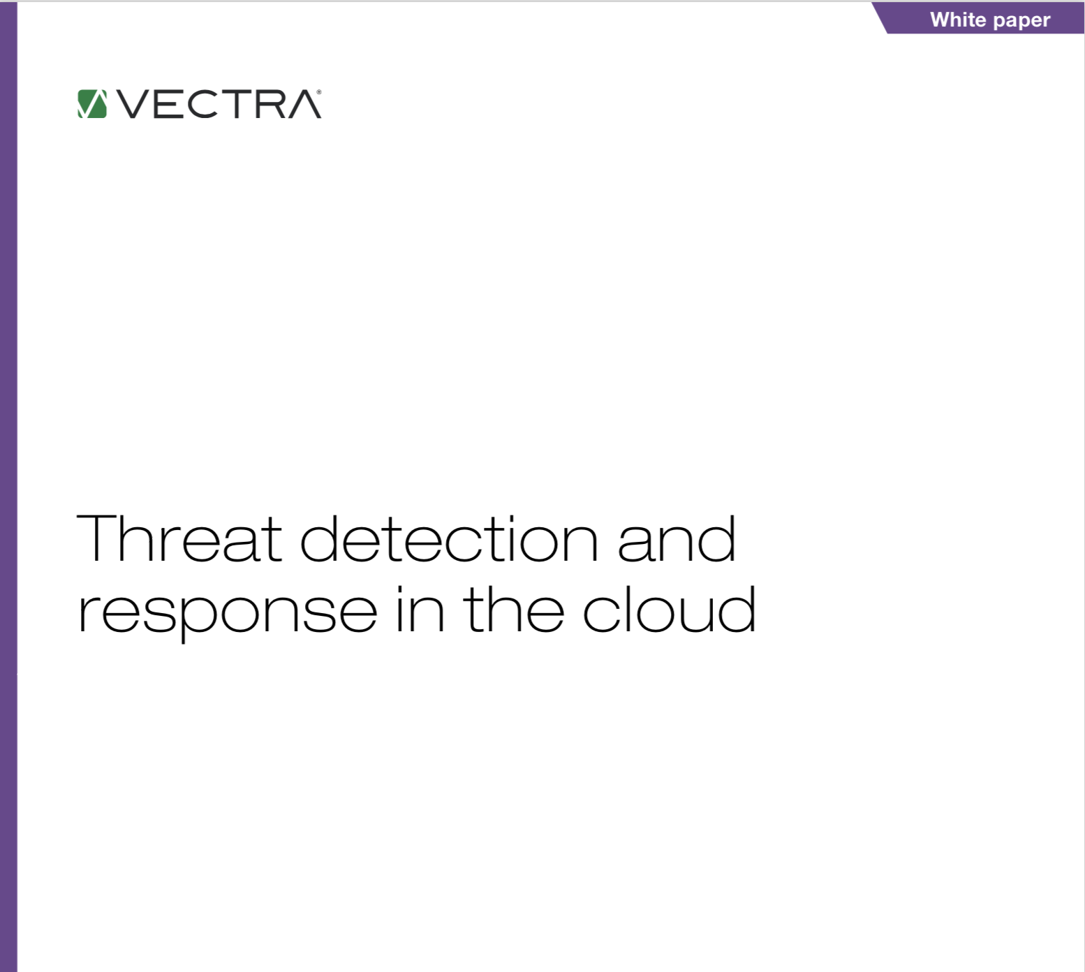 Threat detection and response in the cloud