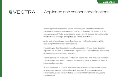 Browse Vectra's various resources about the Cognito platform