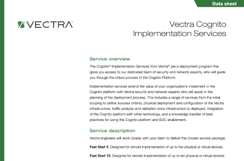 Browse Vectra S Various Resources About The Cognito Platform