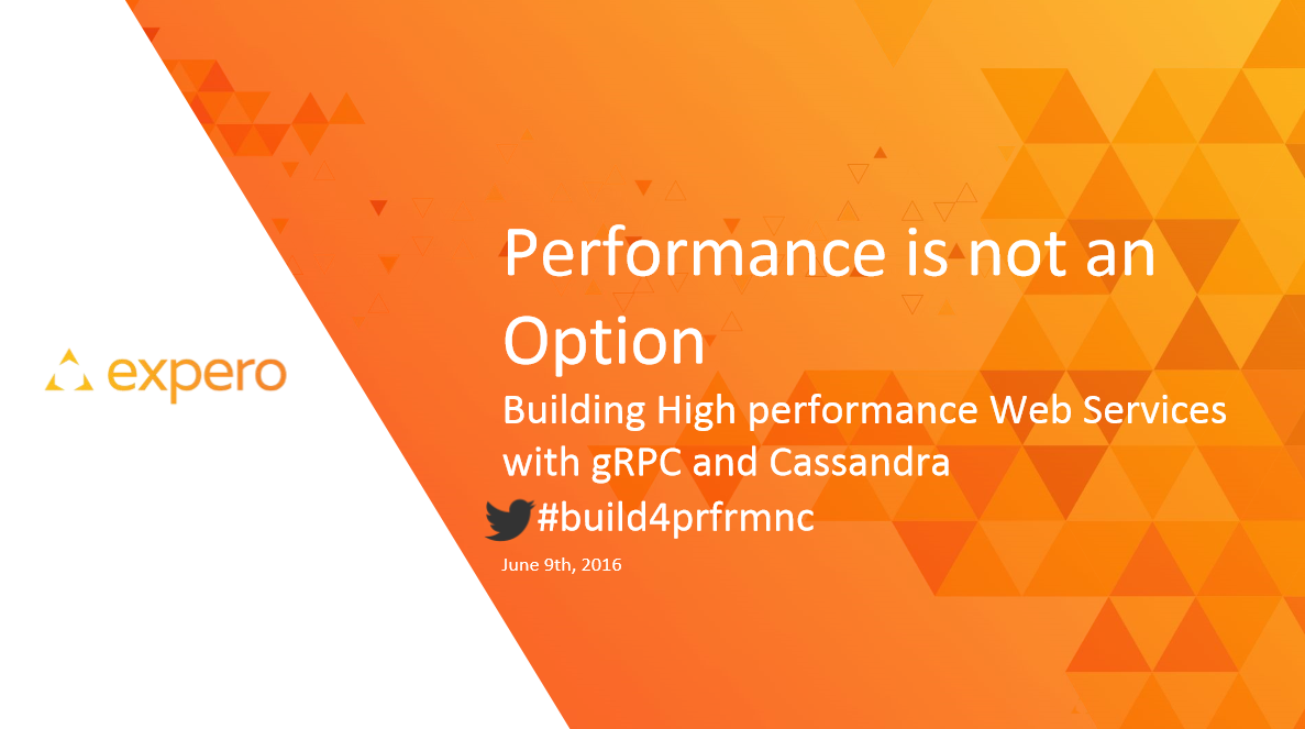 Expero Blog | gRPC and Cassandra – Presenting at NDC Oslo 2016