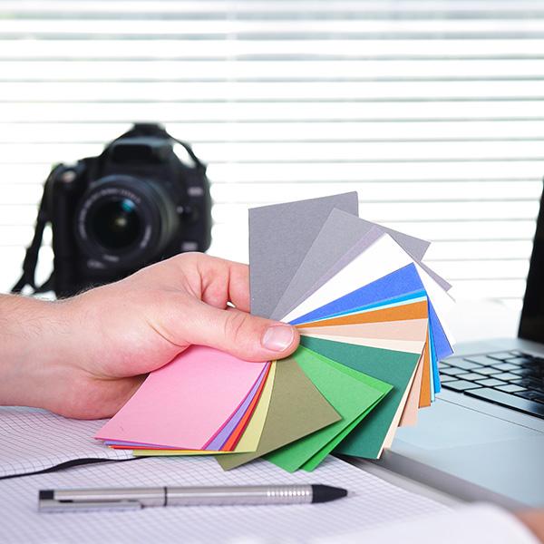 Kamera och Färgprover