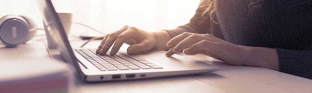 Användande av laptop
