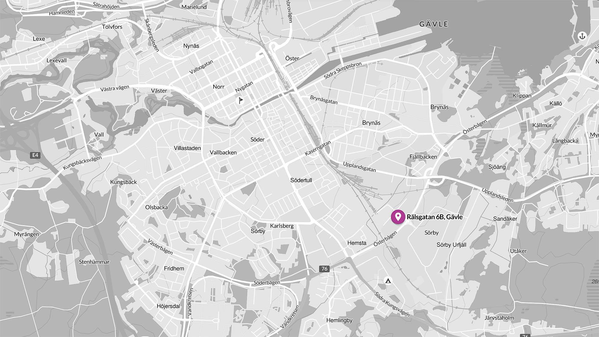 Rälsgatan 6B, Gävle
