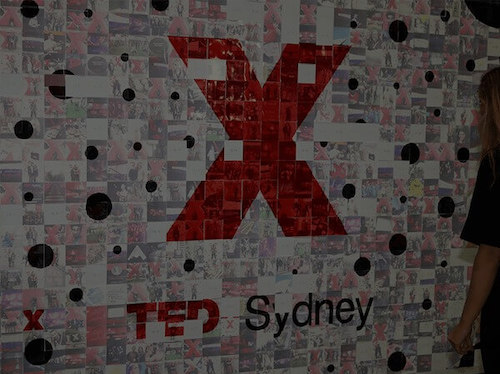 a picture of the social mosaic at the tedx social playground event