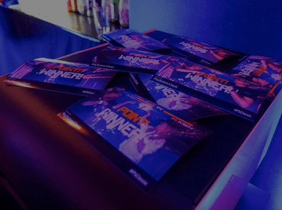 custom printing at an event activation