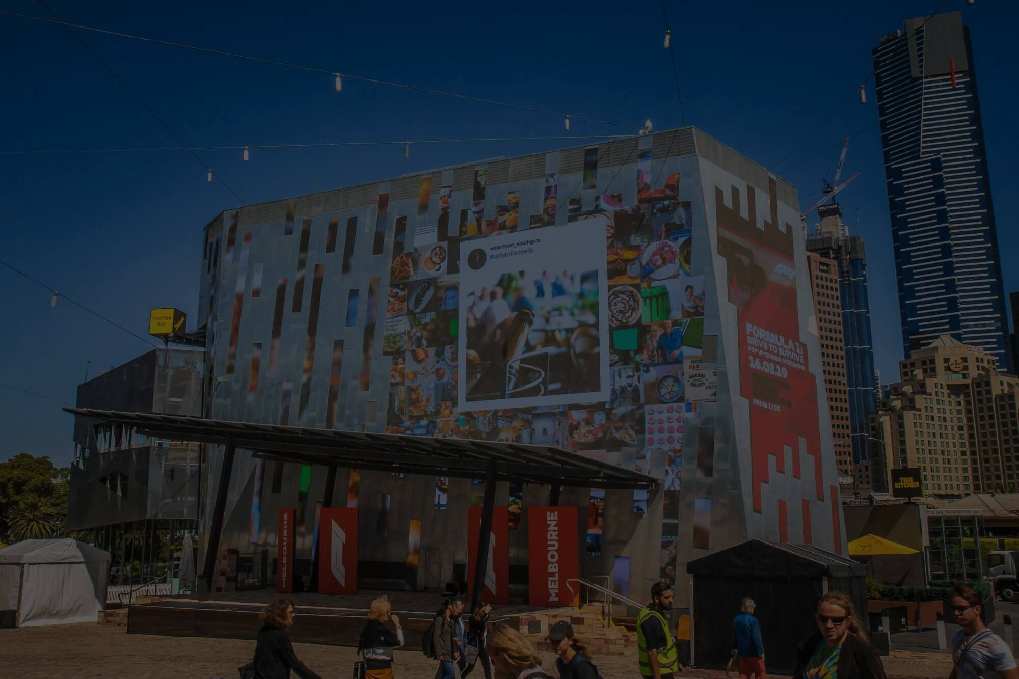 live digital experience at fed square event activation in melbourne