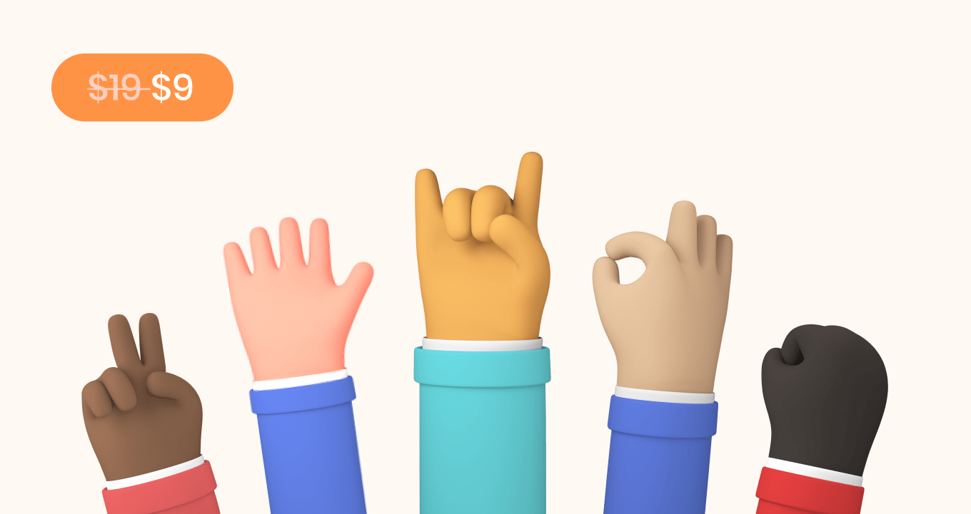 DrawKit 3D hands emotive fun illustrations and icons