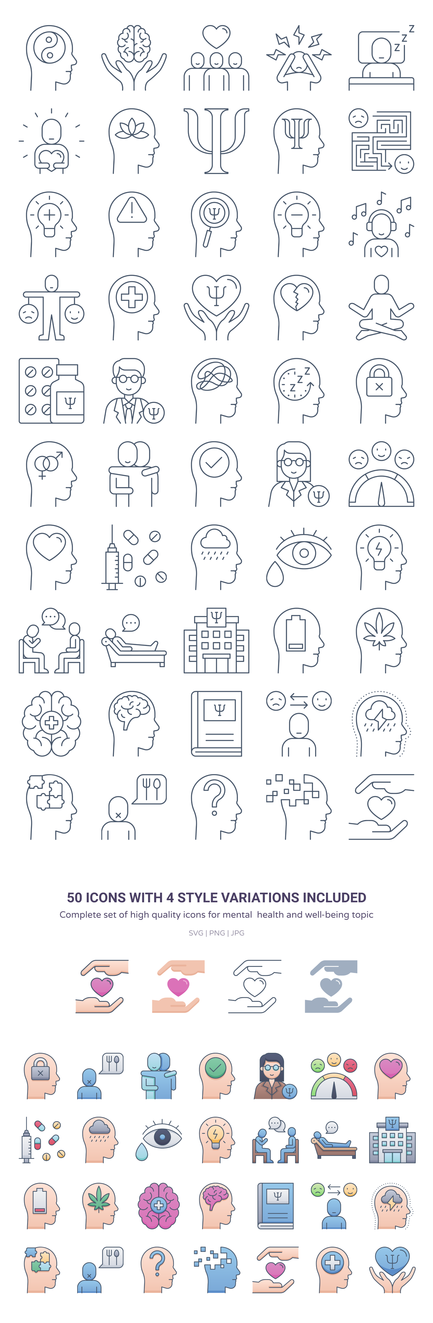 free vector icons doctor, nurse, patient, ward, mental health, therapy, consultant, self-care, love, support, community, psychology, psychologist, medicine, disorders, bipolar, depression, stress 