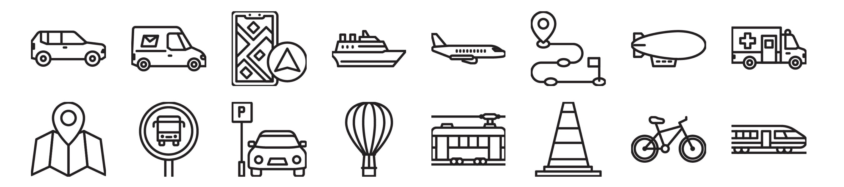 Transport & Travel Icons