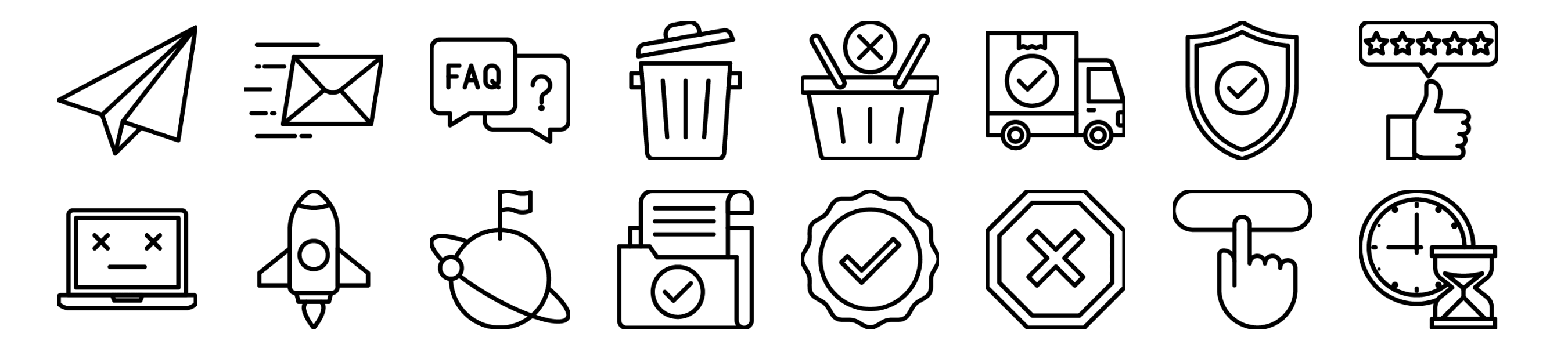Website States Icons