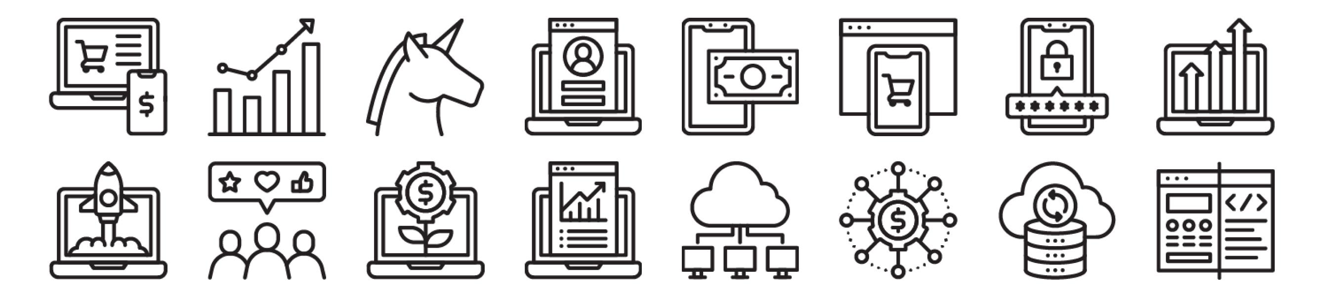 Startups and SaaS Icons