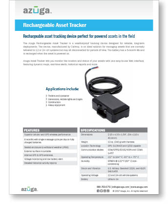 Rechargeable Asset Tracker