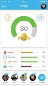 Azuga mobile app for fleet management