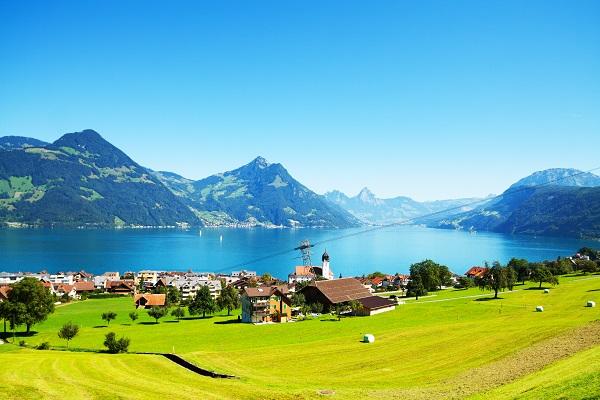 Beckenried lake Lucerne