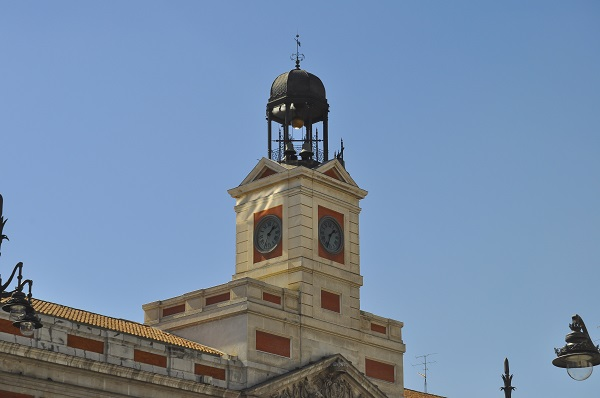 Puerta del Sol Clock In Madrid