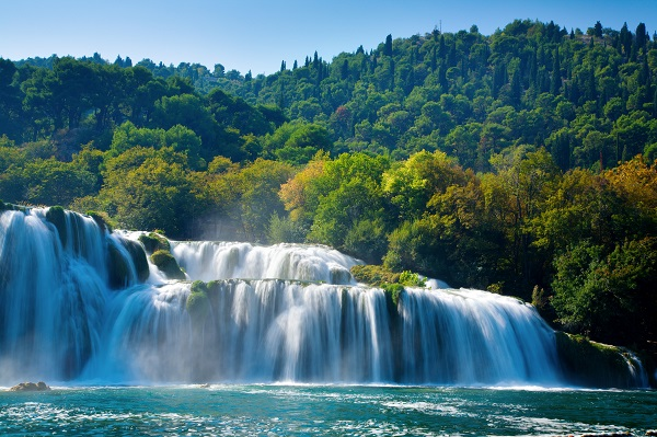 Waterfalls In The Krka National Park