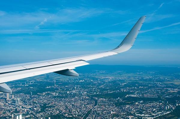 Plane over Frankfurt
