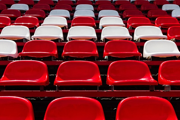 Red and White Football Seats