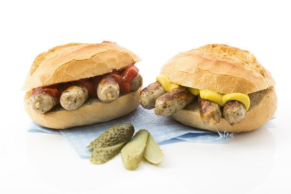 Bratwursts In A Roll