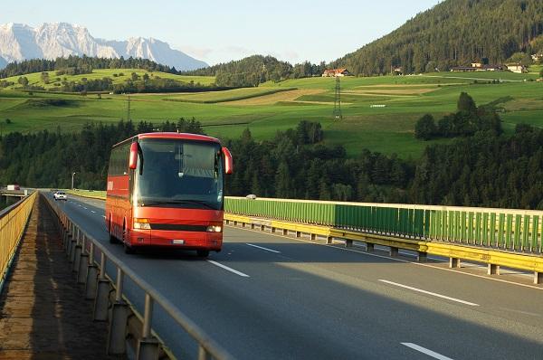 Bus Through The Alps