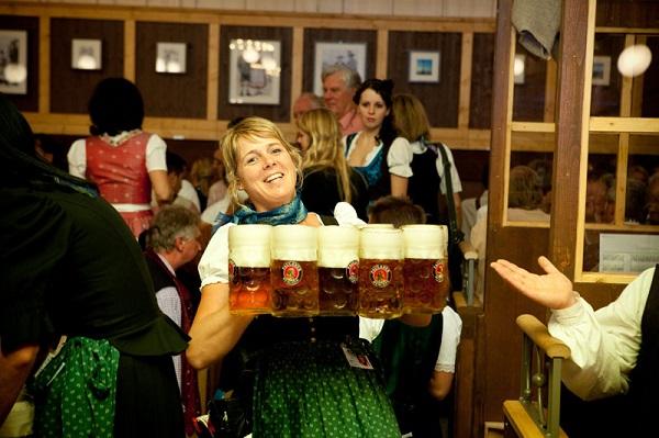 Women Carrying Beer Oktoberfest