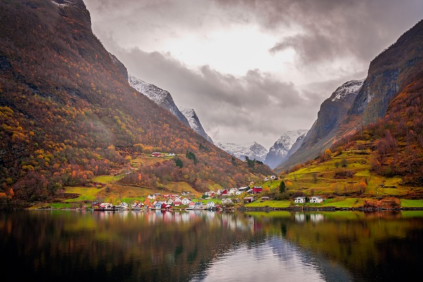 Norwegian Fjords In Autumn