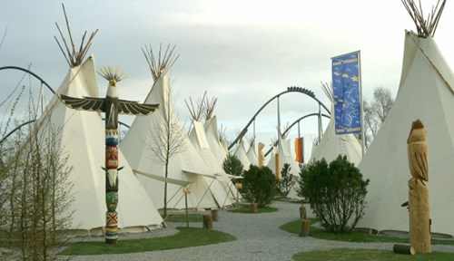 Teepees In Campsite At Europa-Park