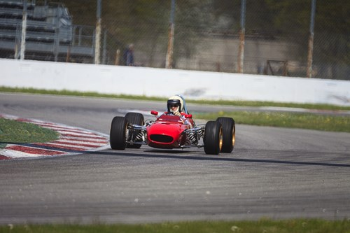 Car On La Monza Race Track