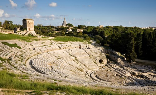Greek Amphitheater At Syracuse